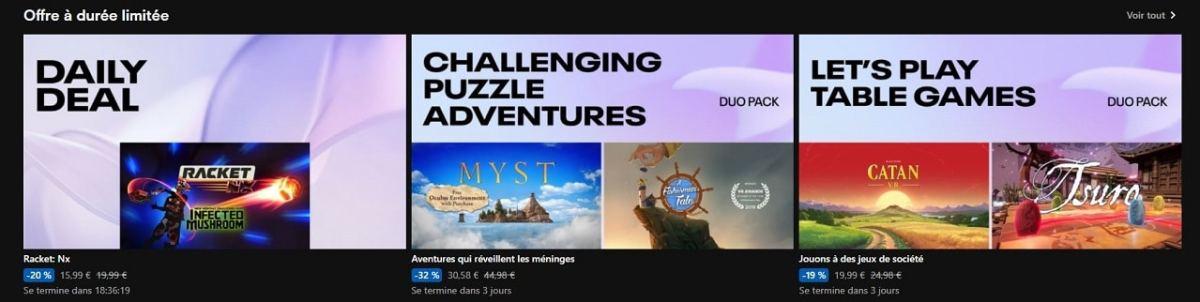 Promotion jeux Quest 25 mai 2021