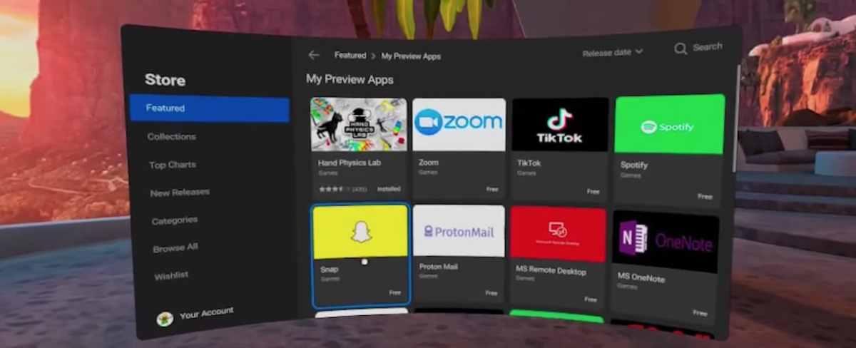 App Android sur Quest 2