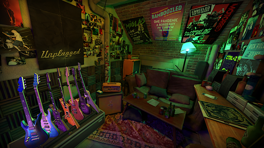 Unplugged VR guitares Quest