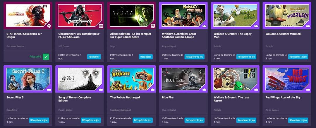 Jeux PC gratuits Amazon Gaming