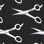 Print: Black/White Scissors
