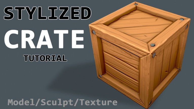 Simple Stylized Crate – Creating an asset from start to finish [Maya, Zbrush, Substance Painter]