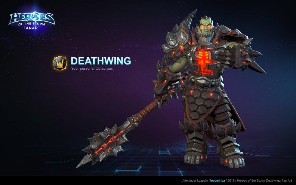Deathwing Fan Art by Alexander Lyapsin