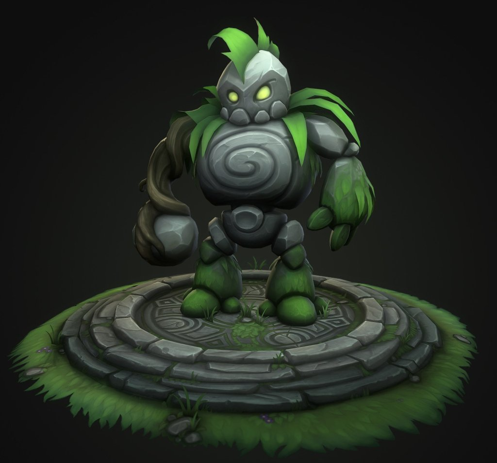 Elemental Minion – Handpainted Lowpoly by Anthony Xenakis