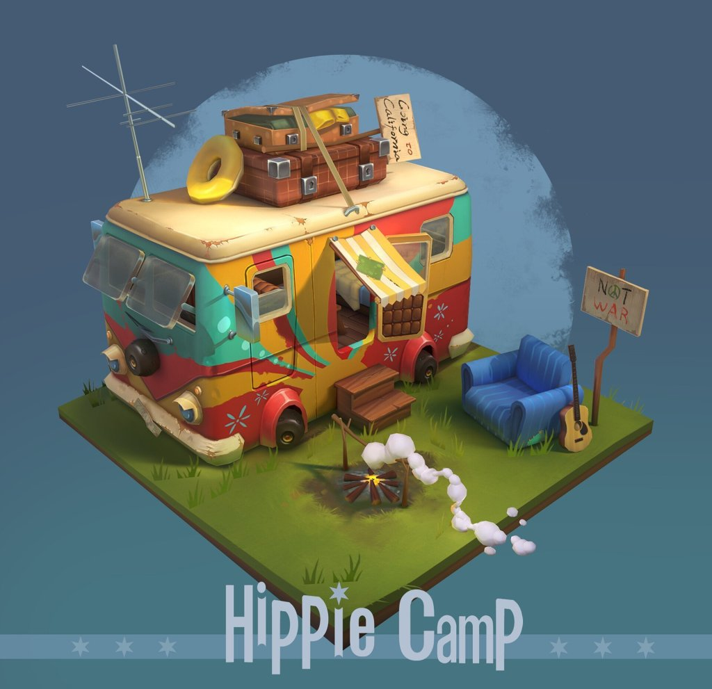 Hippie Camp by Endy Gao