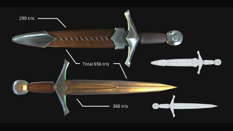 ArtStation Dagger by Jenise Ong