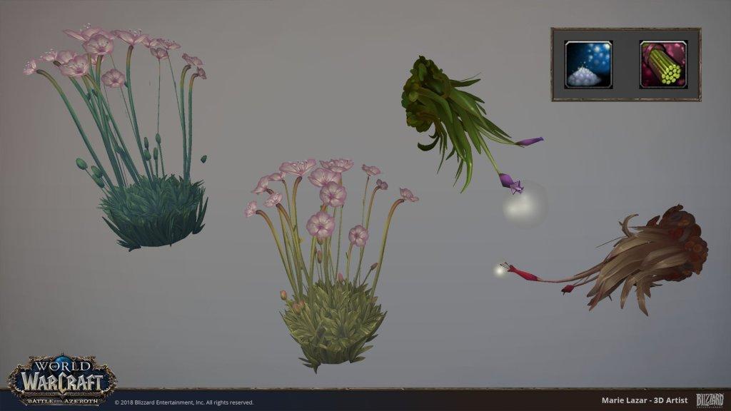 Herbalism nodes – Battle for Azeroth – World of Warcraft by Marie Lazar