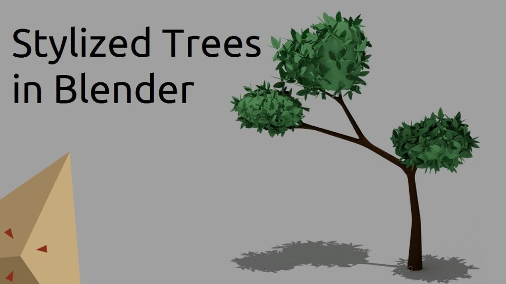 Modelling a stylized low poly tree in Blender