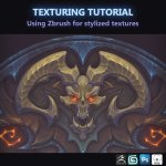 Texturing Tutorial, Using Zbrush for stylized textures By  Fanny Vergne
