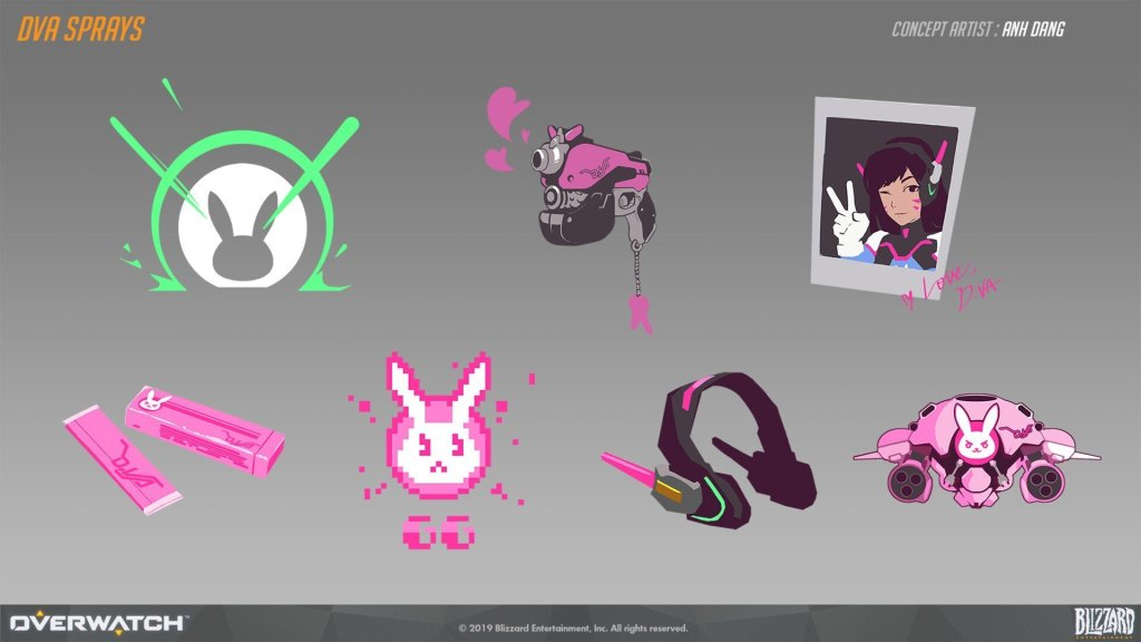 D.Va sprays  by Anh Dang