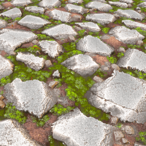 Mossy Rock Slabs + png textures By karalysson