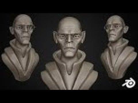 Smart Alien SpeedSculpt in Blender 2.8 | Timelapse | VeryHotShark