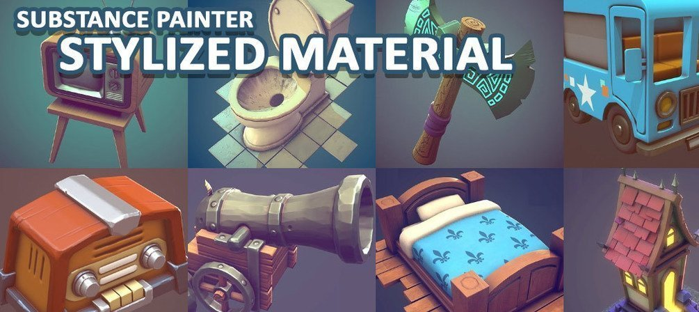 Stylized Smart Material - Substance Painter By 3dex