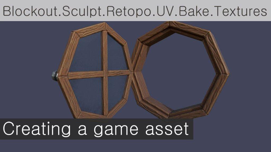 Stylized Window Game Asset in Maya, Zbrush & Substance Painter