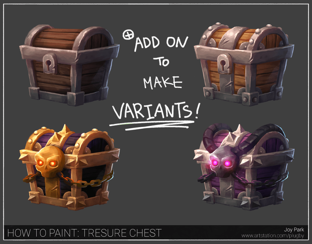 2D Art Breakdown | Creating a Stylized Treasure Chest