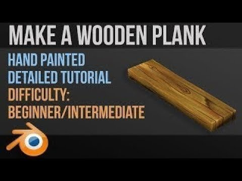 Hand Painting a Wooden Plank in Blender 2.8