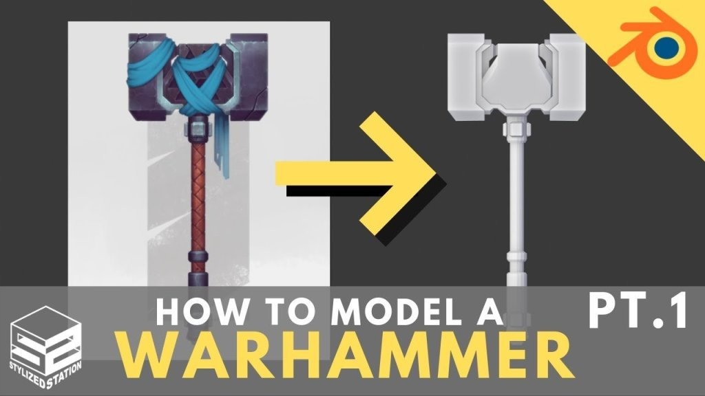 Blender 2.8 Game Asset Modeling Tutorial Series- Stylized Warhammer [PART 1]