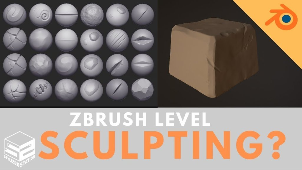 Blender Beginners: Stylized Stone Sculpting Tutorial[ + FREE STYLIZED BRUSHES SET]