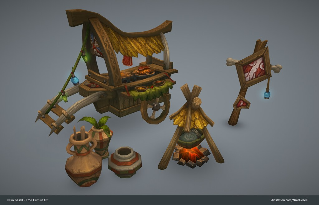 World of Warcraft Style Texture Painting and Philosophy