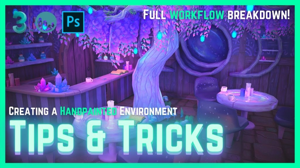 Creating Handpainted Textures for 3D Environments – Tips & Tricks