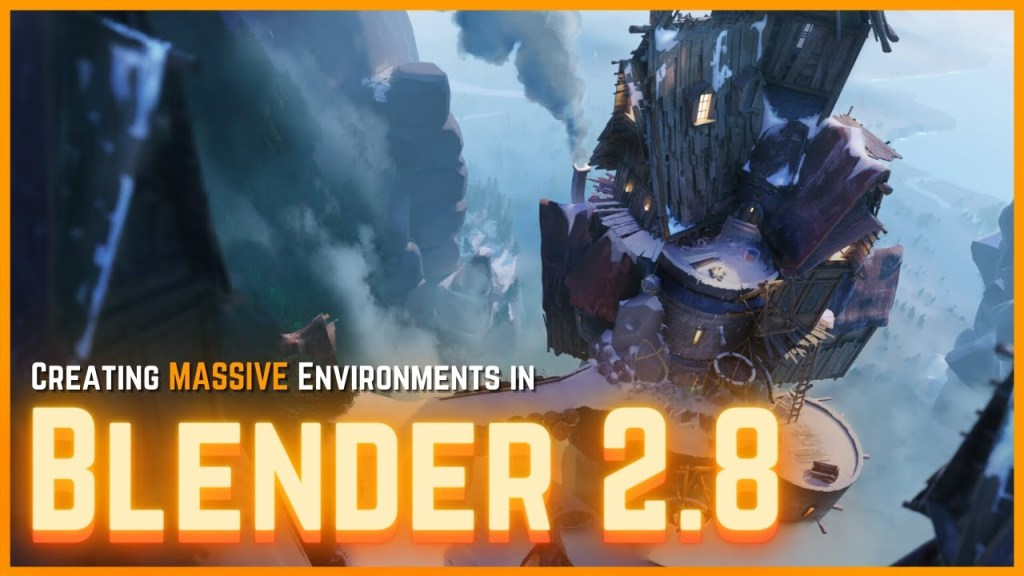 Creating Large-Scale Environments in Blender 2.8 [TURN ANY CONCEPT INTO 3D!]