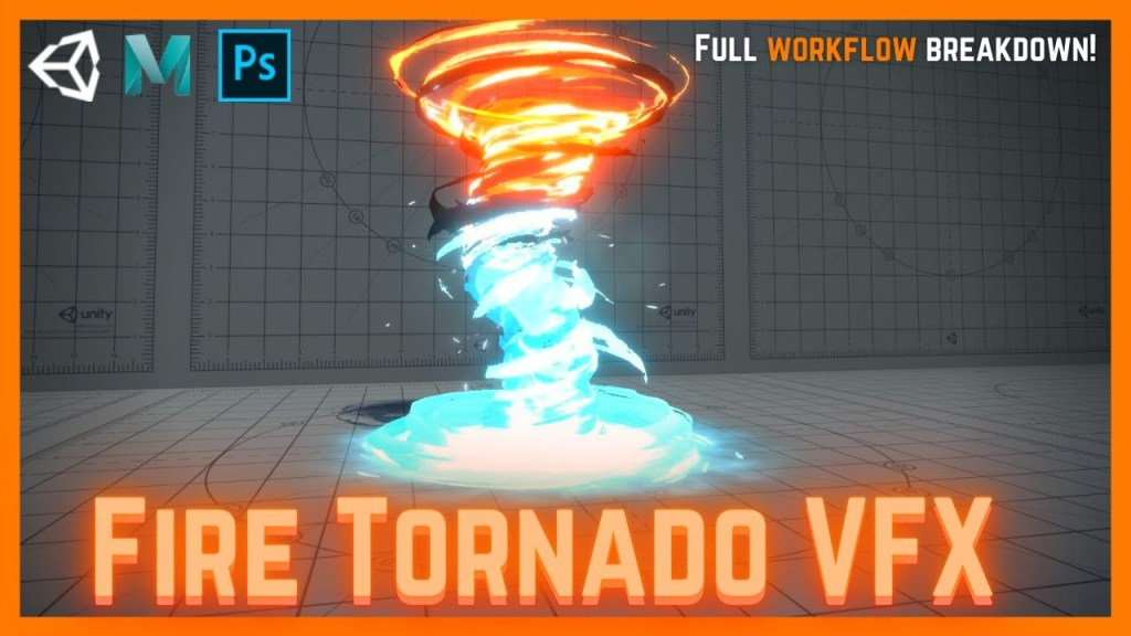 Unity VFX Amplify Shader Editor – Magic Fire and Ice Tornado Tutorial
