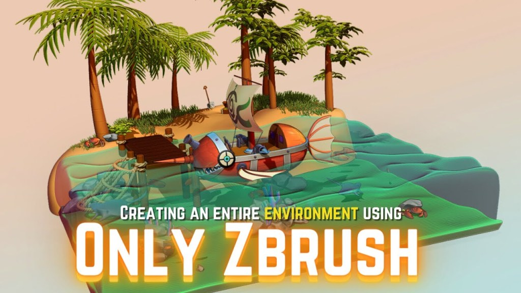 Can you Create an Entire Environment Using ONLY Zbrush?