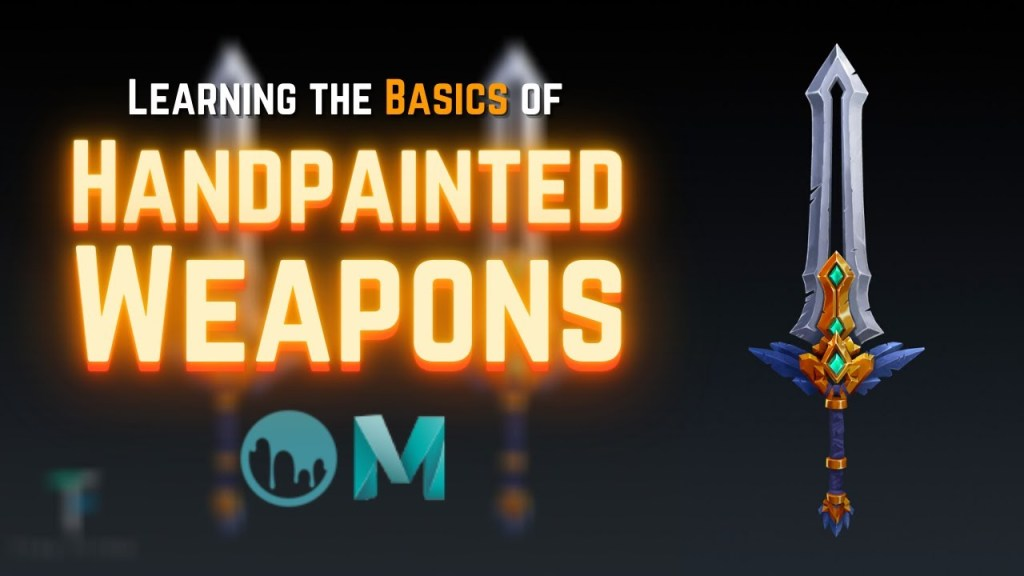 Creating 3D Weapons with Handpainted Textures for Beginners