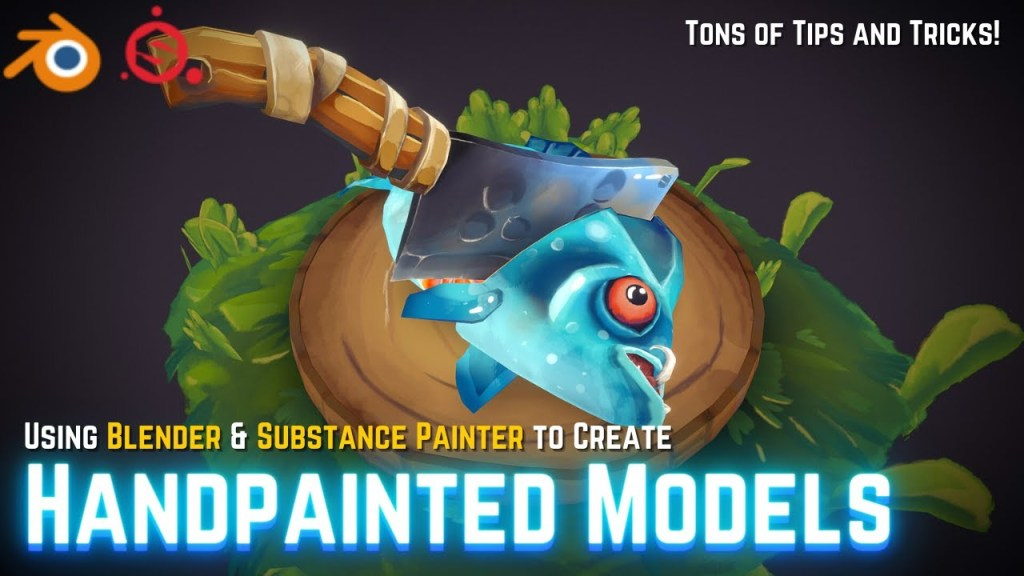 How To Easily Create Handpainted Models in Blender & Substance Painter