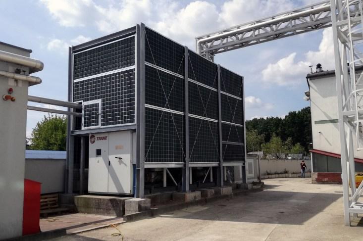 Ekrany akustyczne przy urządzeniach chłodniczych. Projekt budowlany i kierowanie budową.