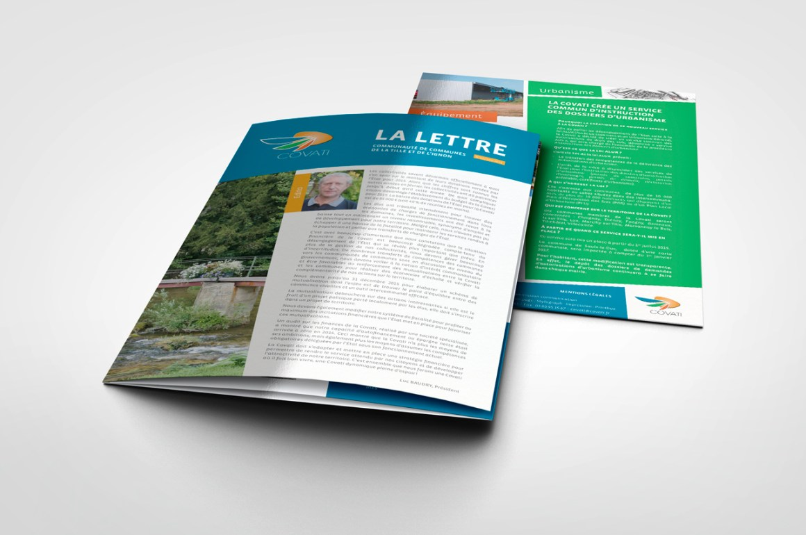 Mise en page Lettre d'information Covati Tourisme