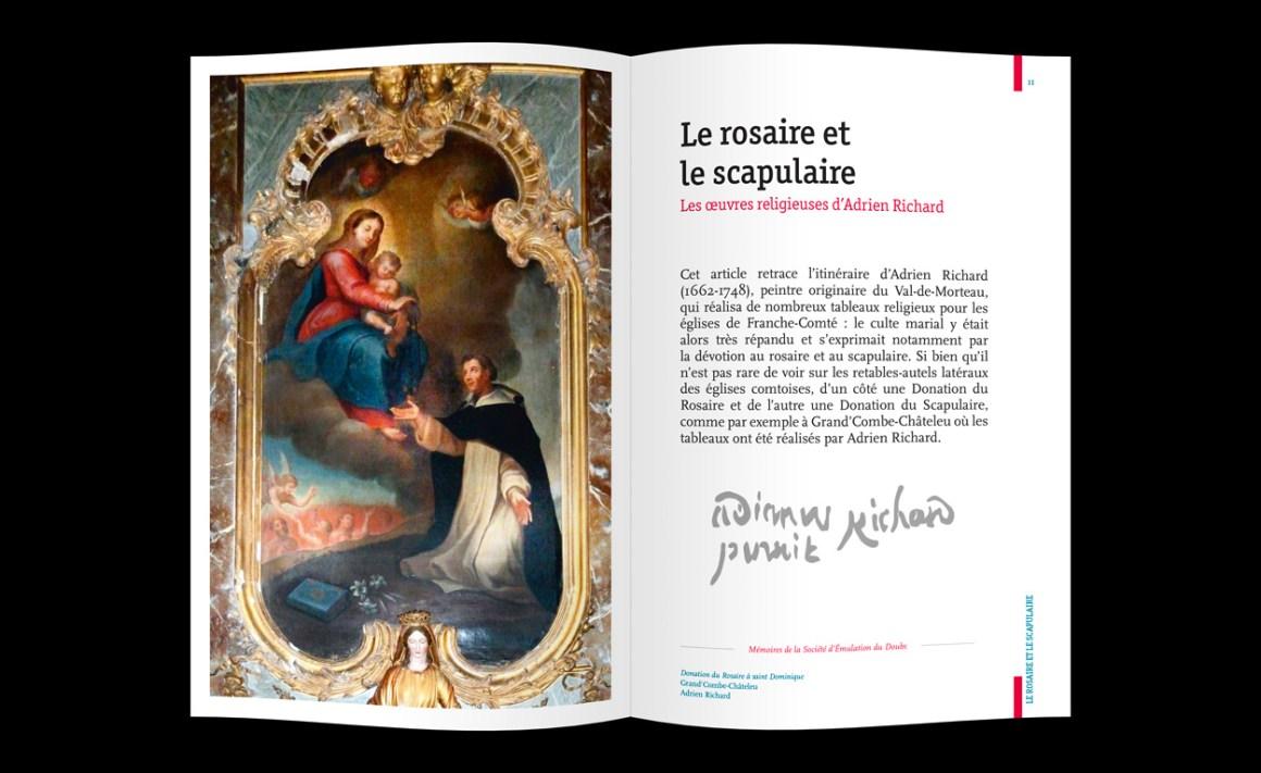 Mise en page Histoire et Patrimoine de Franche-Comté
