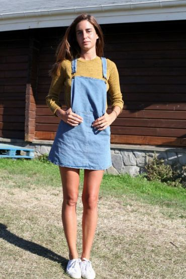 Dungaree skirt