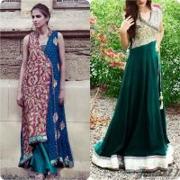 Stylish Angrakha Style Frocks Collection 2016 | Stylo Planet