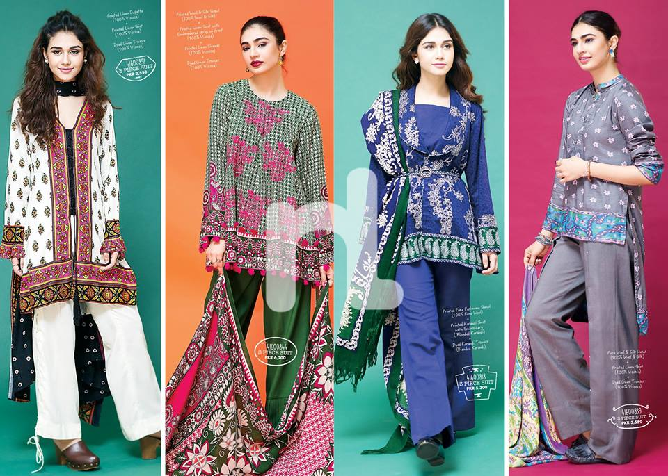 Latest Nishat Linen Fall/Winter Collection'16