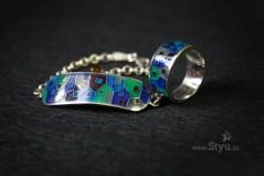 минанкари в алматы, минанкари в астане, кольцо с эмалью в алматы, кольцо с эмалью в астане, серебряный браслет, горячая эмаль на серебре, серебряное украшение, украшение с эмалью