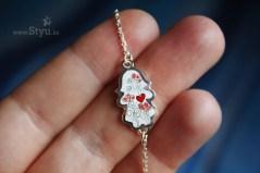 мамин браслет, браслет с детками, я мама, серебряный браслет, браслет с эмалью, подарок жене, подарок подруге, подарок на выписку, минанкари в казахстане