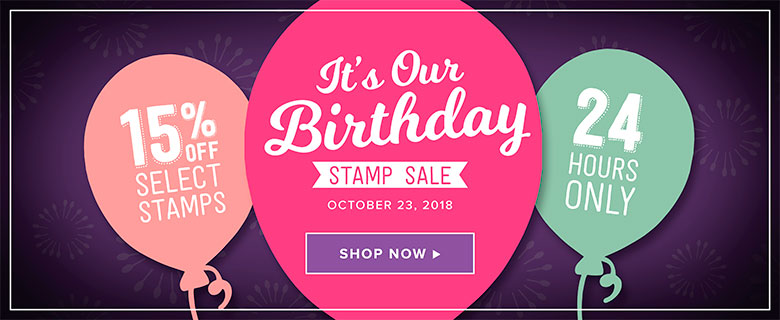 It's Our Birthday Stamp Sale