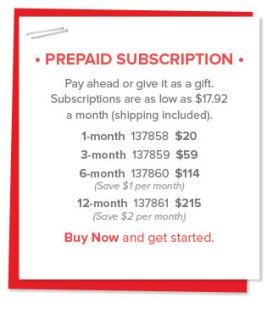 Prepaid Subscription