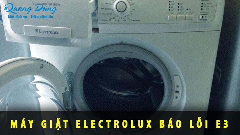 máy giặt electrolux báo lỗi E3