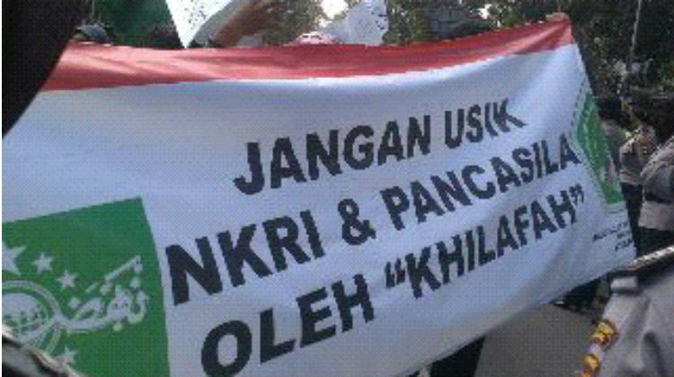 GP Ansor dan Banser NU Bubarkan Aksi HTI
