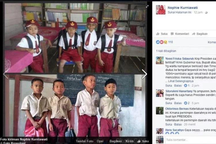 Presiden Jokowi Beri Bantuan Pada Anak SD Bengkayang Yang Viral Lewat Video