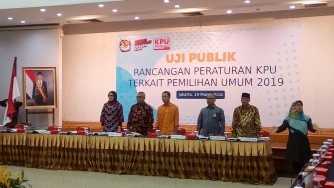KPU Gelar Uji Publik PKPU Pemilu 2019