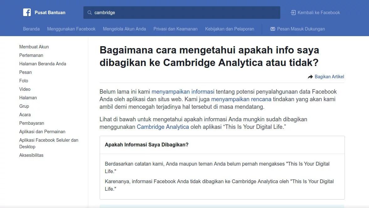 Cek Disini untuk Memastikan Apakah Anda Korban Pencurian Data Facebook