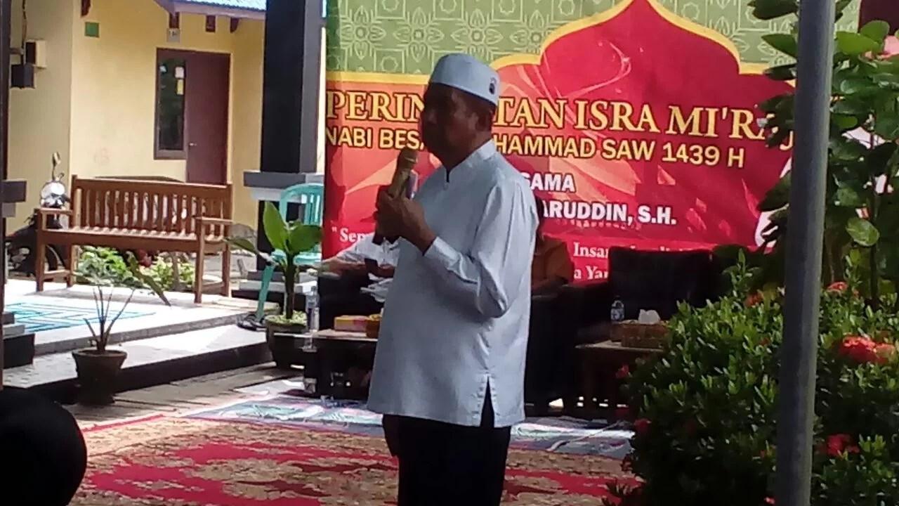 Safaruddin Tampil Bersahaja dalam Menyampaikan Ceramah Isra Mi'raj