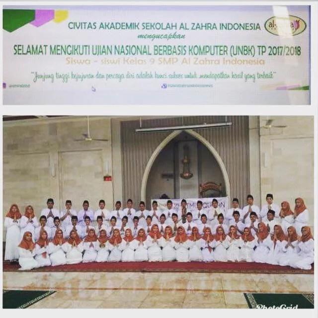 SMP Al-Zahra Indonesia Raih Peringkat 10 se-Tangsel dan 20 se-Banten