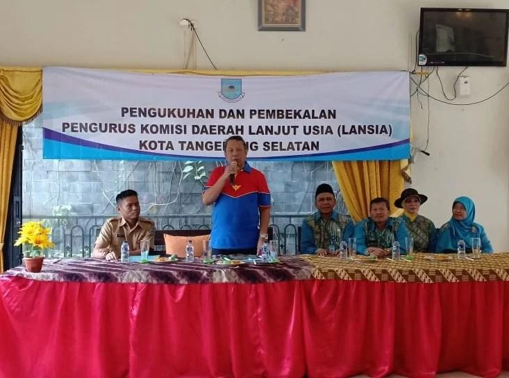 Dinas Sosial Kota Tangsel Beri Pembekalan Kepada Lansia di Tangerang Selatan