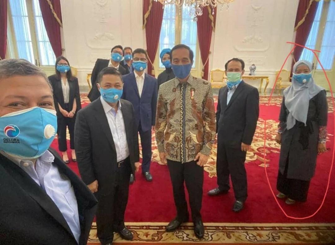 Sejumlah Pengurus Partai Gelora Bertemu Presiden Jokowi