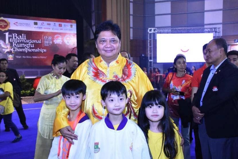 Ketum Golkar Airlangga Diganjar Penghargaan Pembina Olahraga Terbaik
