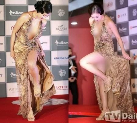 9 Aktris Korea Ini Jadi Sorotan Publik Karena Gaun Yang Terlalu Terbuka di Red Carpet